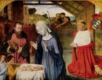 Jean Hey (Meister von Moulins)-Nativity with donor portrait of Cardinal Rolin